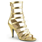Ouro Imitação couro 10 cm DREAM-438 numeros grandes botinha mulher