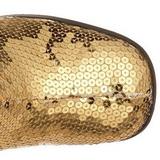 Ouro Lantejoulas 8 cm SPECTACUL-300SQ Botas Femininas