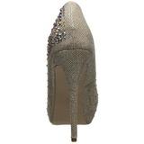 Ouro Pedra Cristal 13 cm DESTINY-06R Plataforma Scarpin Salto Alto