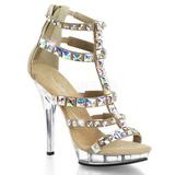 Ouro Pedra Cristal 13 cm LIP-158 Sapatos Salto Alto