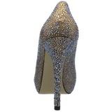 Ouro Pedra Cristal 13 cm PRESTIGE-20 Plataforma Scarpin Salto Alto