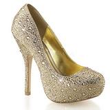 Ouro Pedras Brilhando 13,5 cm FELICITY-20 calçados femininos salto alto