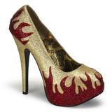 Ouro Pedras Brilhando 14,5 cm Burlesque TEEZE-27 calçados femininos salto alto
