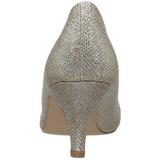 Ouro Pedras Cristal 6,5 cm DORIS-06 sapato scarpin para noite de festa