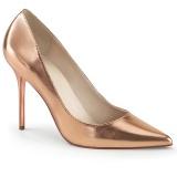 Ouro Rosa 10 cm CLASSIQUE-20 Sapatos Scarpin Salto Agulha