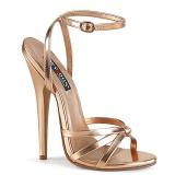 Ouro Rosa 15 cm DOMINA-108 sapatos fetiche com salto agulha