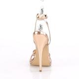 Ouro Rosa 15 cm Devious DOMINA-108 sandálias de salto alto mulher