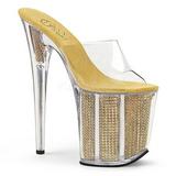 Ouro Strass 20 cm FLAMINGO-801SRS tamancos mulher plataforma