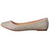 Ouro TREAT-06 pedra cristal sapatas da bailarina mulher baixos altos