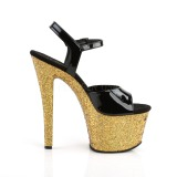 Ouro brilho 18 cm Pleaser SKY-309LG sapatos de saltos pole dance