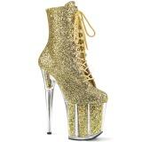 Ouro brilho 20 cm FLAMINGO-1020G botinha de saltos pole dance