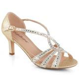 Ouro brilho 6,5 cm Fabulicious MISSY-03 sandálias de salto alto mulher