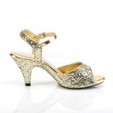 Ouro brilho 8 cm BELLE-309G sapatos de travesti