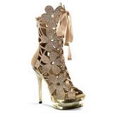 Ouro pedra cristal 15 cm FANTASIA-1020 plataforma botinha mulher