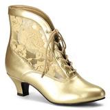 Ouro tecido de renda 5 cm DAME-05 Botinha Mulher com Cadarco