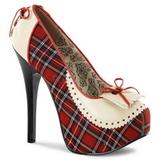 Padrao de Xadrez 14,5 cm TEEZE-26 calçados femininos com salto alto