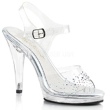 Pedra strass 11,5 cm FLAIR-408SD sapatos de travesti