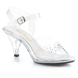 Pedra strass 8 cm BELLE-308SD sapatos de travesti