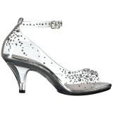 Pedra strass 8 cm BELLE-330RS sandálias de salto alto mulher