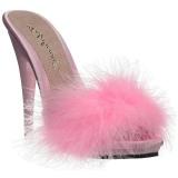 Pink 13 cm POISE-501F marabu penas Tamancos Altos