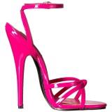 Pink 15 cm Devious DOMINA-108 sandálias de salto alto mulher