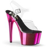 Pink 18 cm ADORE-708 Cromo Plataforma Saltos Altos