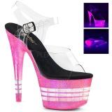 Pink 18 cm ADORE-708UVLN Sandálias Plataforma Neon