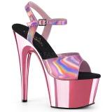 Pink 18 cm ADORE-709HGCH Holograma plataforma salto alto mulher