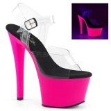 Pink 18 cm SKY-308UV Neon plataforma salto alto mulher