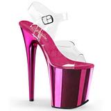 Pink 20 cm FLAMINGO-808 Cromo Plataforma Saltos Altos
