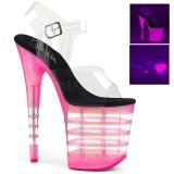 Pink 20 cm FLAMINGO-808UVLN Sandálias Plataforma Neon