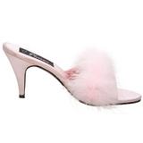 Pink 8 cm AMOUR-03 marabu penas Tamancos Altos