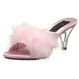 Pink 8 cm BELLE-301F marabu penas Tamancos Altos