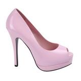 Pink Verniz 13,5 cm BELLA-12 Sapatos Scarpin Salto Agulha