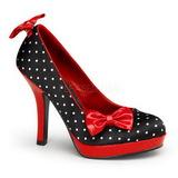 Pontos Brancos 12 cm SECRET-12 Calçados Femininos Scarpin Alto