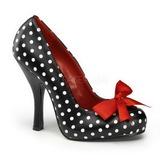 Pontos Brancos 12 cm retro vintage CUTIEPIE-06 Sapatos Scarpin Femininos