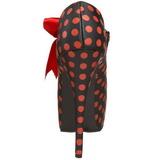 Pontos Vermelho 14,5 cm TEEZE-25 Preto Scarpin Saltos Altos