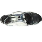 Prata 10,5 cm LOVELY-450 Sandália com salto de cunha