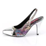 Prata 10 cm DREAM-405 slingback sapatos de travesti