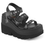 Prata 11,5 cm CELESTE-09 sandálias com salto grosso brilhantes