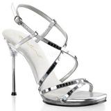 Prata 11,5 cm CHIC-09 Sandálias Salto Agulha Femininos