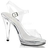 Prata 11,5 cm FLAIR-408 sapatos de travesti