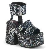 Prata 12,5 cm Demonia CAMEL-102 sandálias lolita plataforma