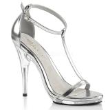 Prata 12,5 cm Fabulicious POISE-526 sandálias de salto alto mulher