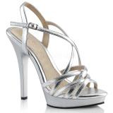 Prata 13 cm Fabulicious LIP-113 sandálias de salto alto mulher
