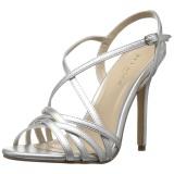 Prata 13 cm Pleaser AMUSE-13 sandálias de salto alto mulher