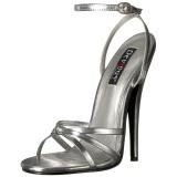 Prata 15 cm DOMINA-108 sapatos fetiche com salto agulha