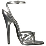 Prata 15 cm Devious DOMINA-108 sandálias de salto alto mulher