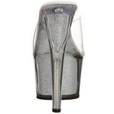 Prata 18 cm ADORE-701G Brilho Plataforma Tamancos Altos