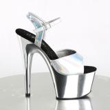 Prata 18 cm ADORE-709HGCH Holograma plataforma salto alto mulher